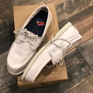 Sperry Topsiders pride white